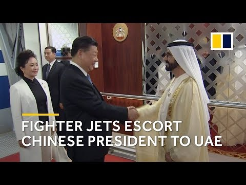 Chinese President Xi Jinping arrives in UAE escorted by fighter jets