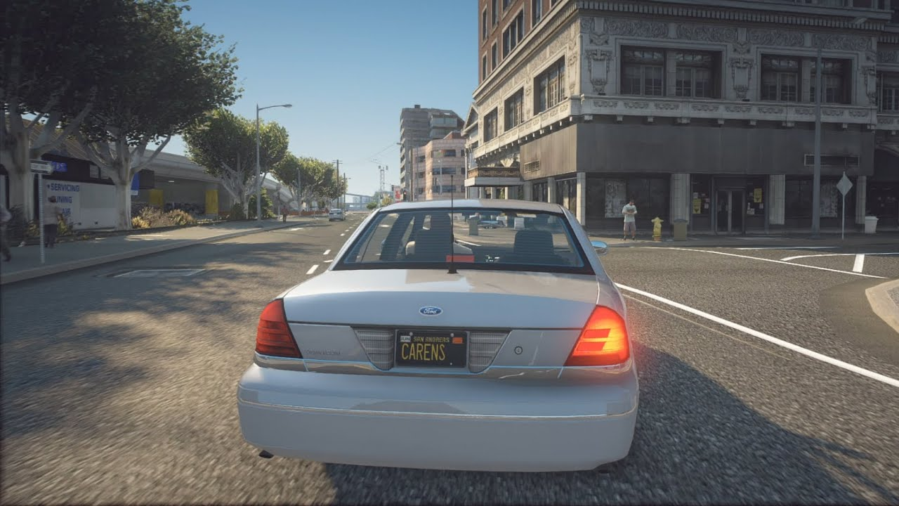 1999 Ford Crown Victoria - GTA 5   NaturalVision Evolved   POV Drive [Steering wheel gameplay]