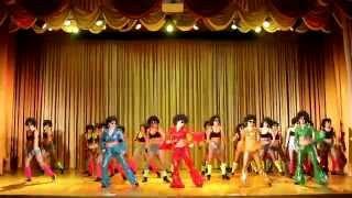 """Популярно-массовый танец """"ДИСКО-80х"""", все группы школы танца ПАНТЕРА, Иркутск"""