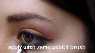 """Cherry limeade"" yellow pink and teal eyeshadow tutorial Thumbnail"