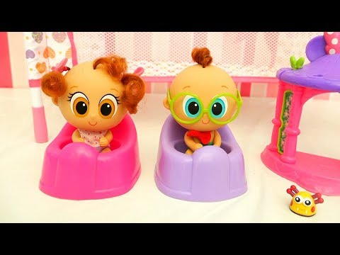 Churro & Atole the New Babies in the Nursery  Toys and Dolls Fun for Kids Making Baby Room  SWTAD