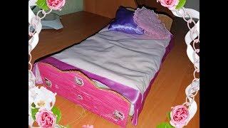 КРОВАТКА ДЛЯ КУКЛЫ БАРБИ СВОИМИ РУКАМИ! BED FOR DARK BARBY WITH YOUR HANDS! handmade