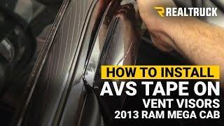 How to Install AVS Tape On Vent Visors