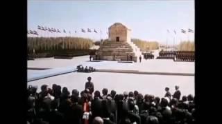 سخنرانی محمد رضا شاه پهلوی در برابر آرامگاه کوروش بزرگ در روز ۲۰ مهر ماه ۱۳۵۰