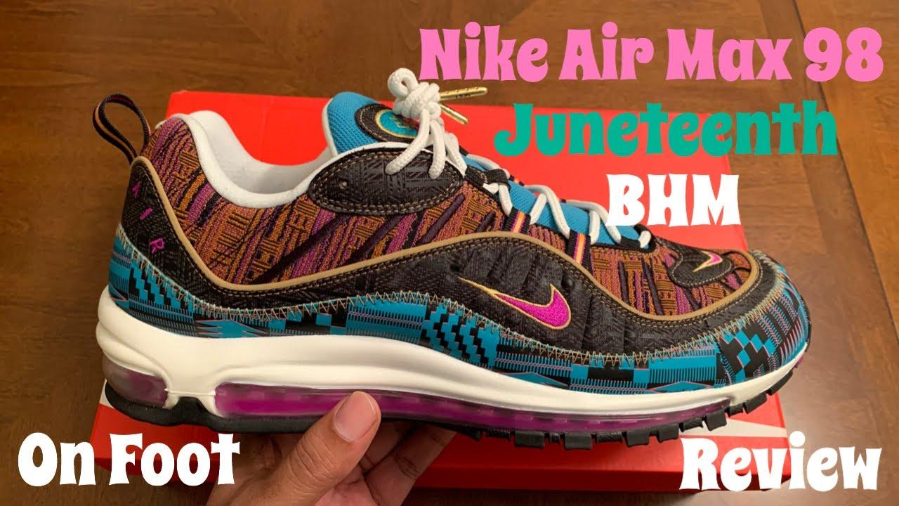 Nike Air Max 98 BHM aka Juneteenth Air