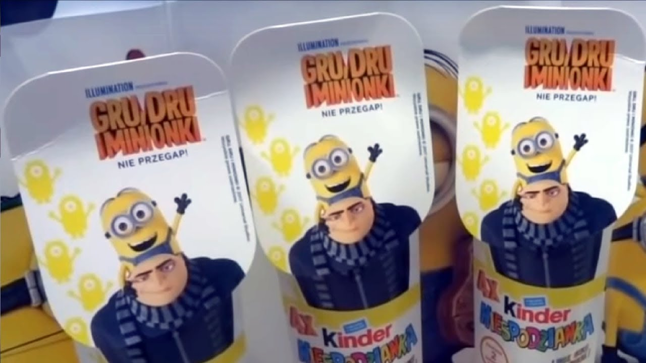 Minions 12 Despicable Me 3 Kinder Surprise Eggs from Minions Movie