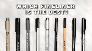 Which Fineliner is the Best?! | STATIONERY SHOWDOWN