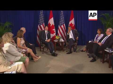 Obama meets Trudeau on sidelines of APEC summit