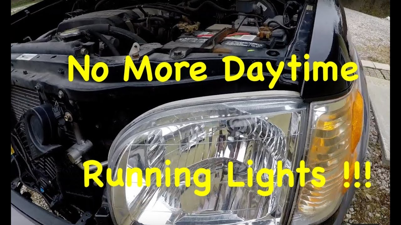 2001 2007 toyota sequoia tundra drl daytime running lights delete how to turn off [ 1280 x 720 Pixel ]