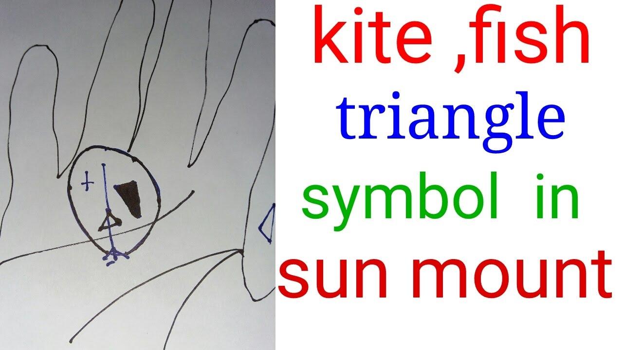 Sun Line Kite Signfish Sign Triangle Symbol