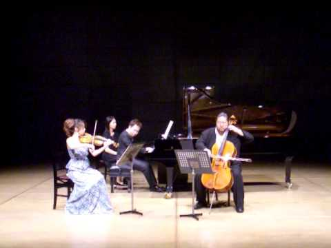 Mendelssohn Piano Trio No.1 mov.1 (松本和将・上里はな子・向井航)