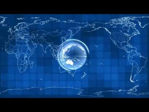 VJ background blue  - Map Of The World News Global International Earth : Free vj loops