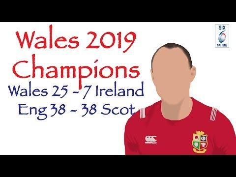 Wales 2019 6 Nations Champions- Wales 25-7 Ireland, England 38-38 Scotland-  Analysis