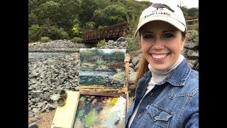 Plein Air Painting a Bridge Over Not-So Troubled Waters with Jessica Henry