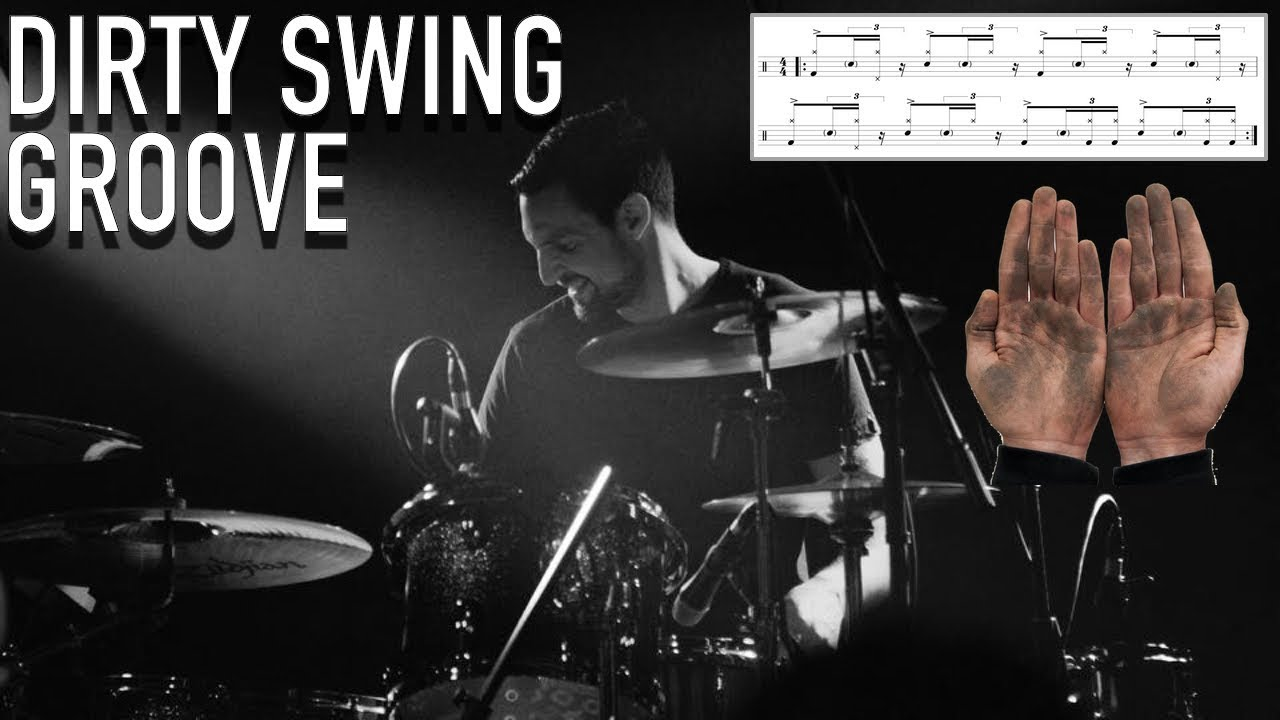 Download A Dirty Swing Groove - Transcription and Breakdown - Drum Lesson By Nick Bukey