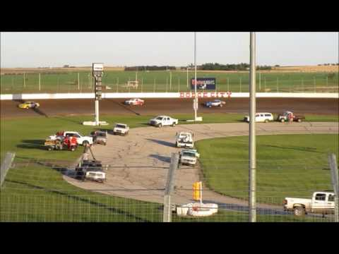 Dodge City Raceway Park Matt Scheuermann #55s Stock Car Heat Race 05-28-2017