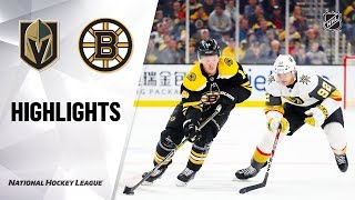 NHL Highlights | Golden Knights @ Bruins 1/21/20
