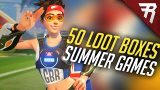 All Summer Games Skins: Overwatch Loot Box Opening (Unboxing 50, legendary skins)