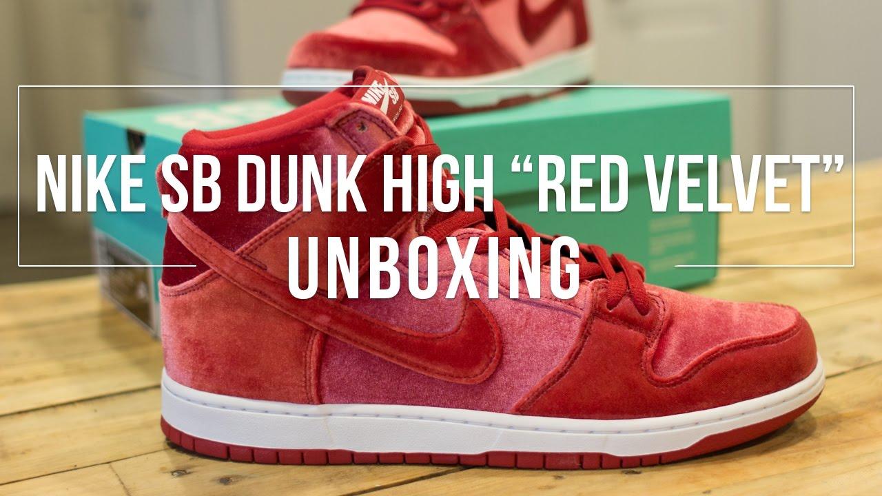 """cb881a46302 Nike SB Dunk High """"Red Velvet"""" Unboxing - YouTube"""