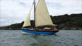 'MARY WINIFRED' A Gaff cutter yacht sailing around