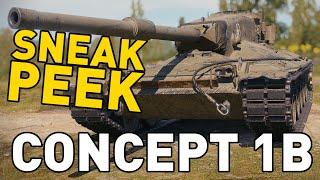 CONCEPT 1B SNEAK PEEK In World Of Tanks