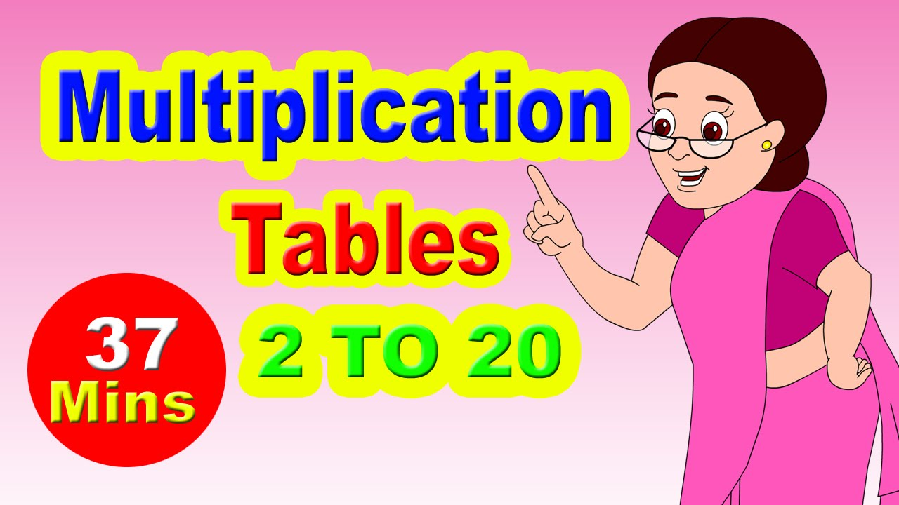 Worksheets 2to20 Table multiplication tables for children 2 to 20 learn numbers youtube