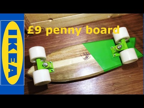 how to make a penny board from ikea chopping board , ikea longboard and simple tools wood