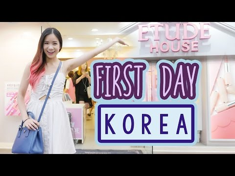 First Day in KOREA | Makeup & Clothes Shopping! | ft. Sunnydahye