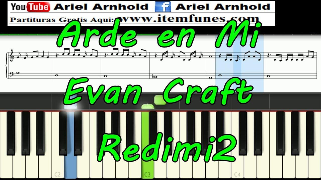 Arde En Mi Evan Craft Feat Redimi2 Tutorial Piano Synthesia