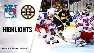 Nhl Highlights | Rangers @ Bruins 11/29/19