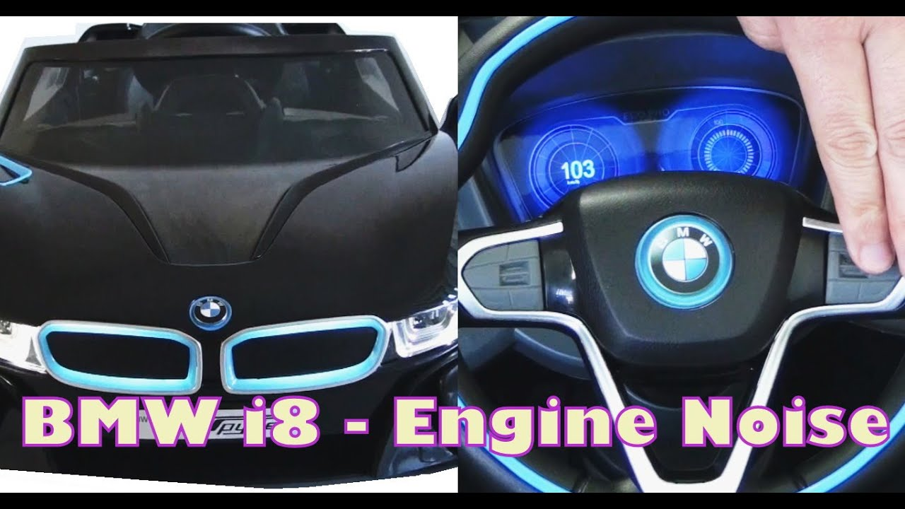 Bmw I8 Spyder Ride On Car Features Engine Sounds And Noises Youtube