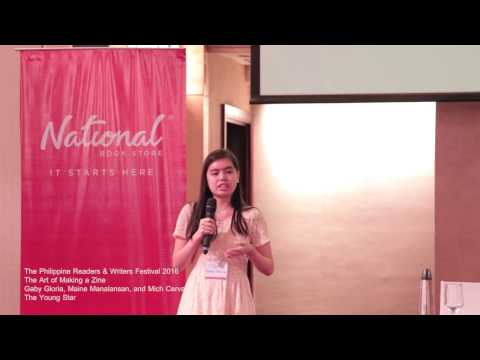 Philippine Readers and Writers Festival 2016 - The Art of Making a Zine