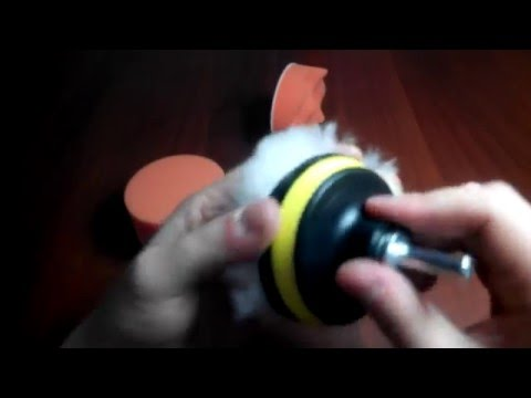 Качественная насадка на дрель для полировки автомобиля и фар.  Полсылка из Китая