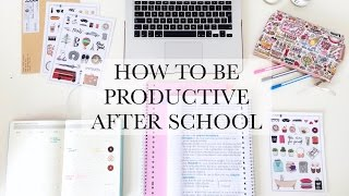 How To Be Productive After School - STUDY TIPS