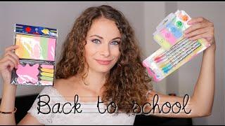 Vissza a suliba  - Back to school haul + JÁTÉK | Viszkok Fruzsi
