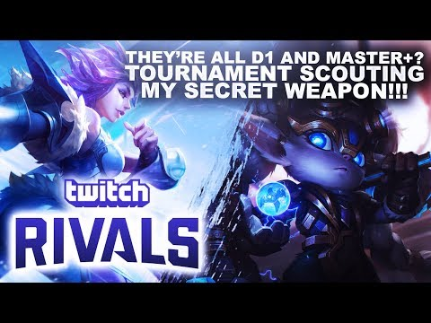 THEY'RE ALL D1 OR MASTER+ TOURNAMENT SCOUTING!   League of Legends thumbnail