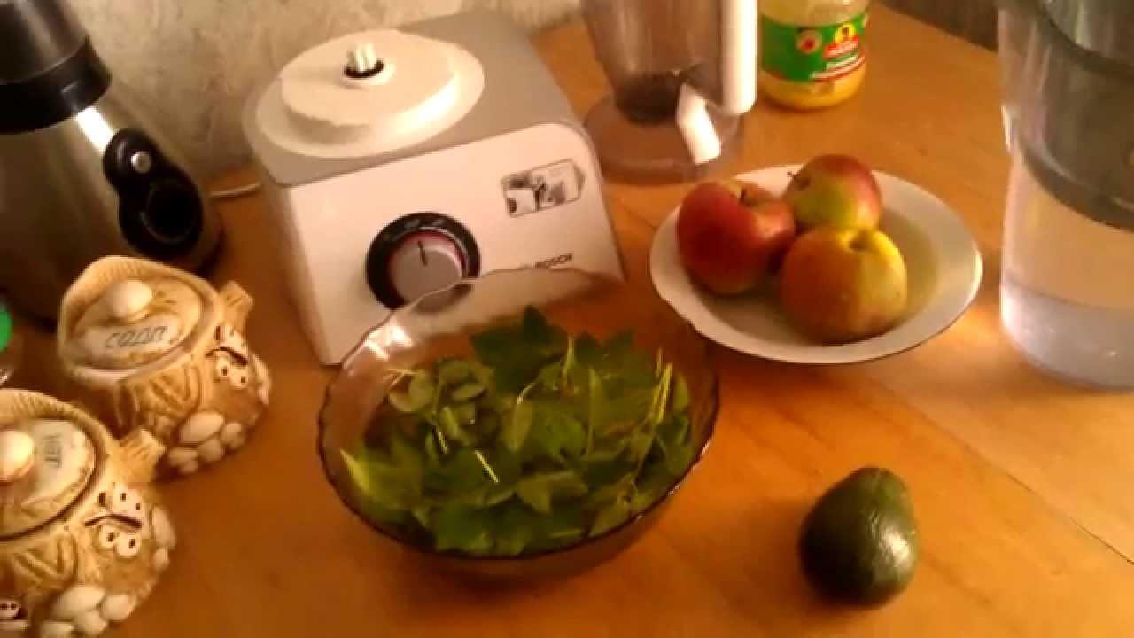 рецепт зелёного коктейля из крапивы и сныти