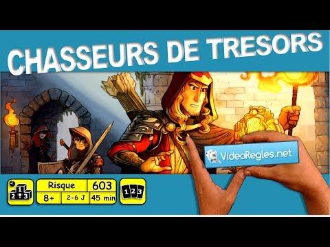 """Vidéorègle Jeu de Société """" Chasseurs de Trésors """" (Treasure Hunter) par Yahndrev (#603)"""