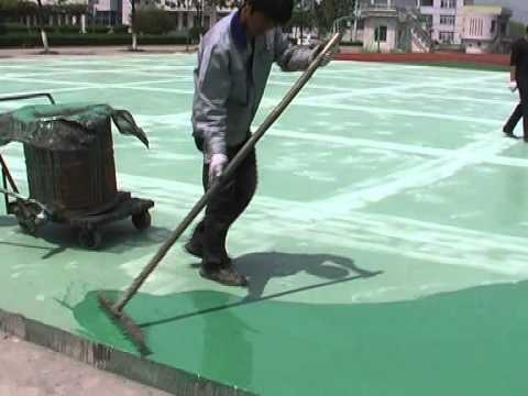 Polyurethane flooring for basketball court volleyball for How to build a sport court