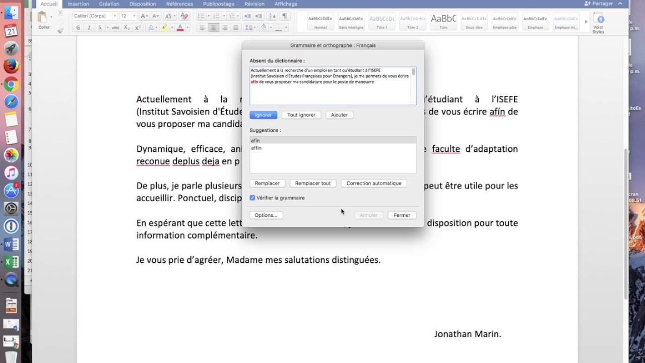 cambiar idioma ortografia office 2011 mac