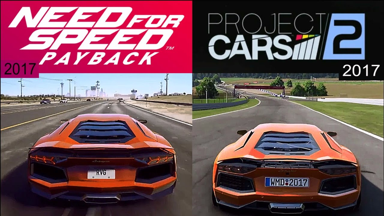 need for speed payback 17 vs project cars 2 17. Black Bedroom Furniture Sets. Home Design Ideas