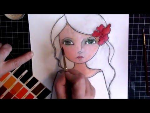 A Year of Watercolors... Watercolor Girl - Part 1