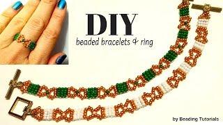 Beaded bracelets. Very easy beading tutorial ONLY for beginners