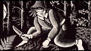 Large LinoCut printmaking process 'PASAKU MEŽS' by Emils Salmins