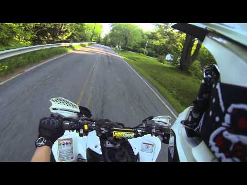Passing a cop on a ATV on public road.