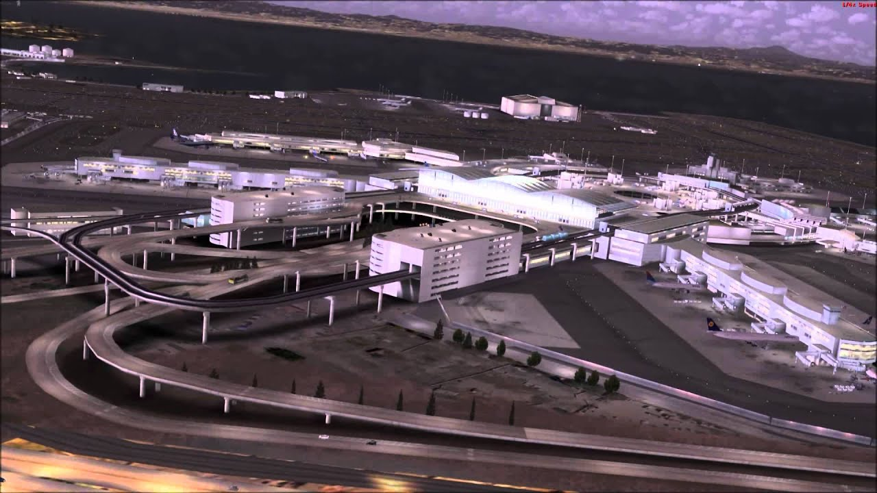 FSX Flightbeam San Francisco Airport KSFO, Aerosoft Mega Scenery