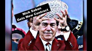 Alabama Football Coach Nick Saban gets new contract