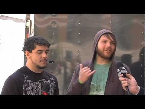 THROUGH THE EYES OF THE DEAD Interview at NEMHF 2010 on Metal Injection