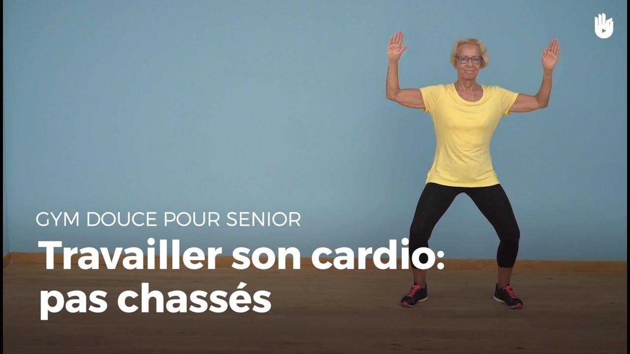Fabuleux Exercice cardio : pas chassés | Gym douce - YouTube BB12