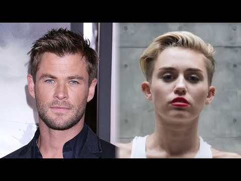Chris Hemsworth Hilariously LIP SYNCS To Miley Cyrus'